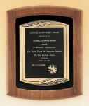 American Walnut Frame Plaque with Antique Bronze Frame Walnut Plaques
