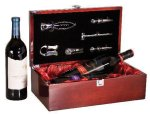 Rosewood Piano Finish Double Bottle Wine Box With Tools Wine Gifts