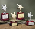 Star with Piano Finish Base Series Wood Cast Awards