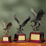 Eagle on Piano Finish Base Wood Cast Awards