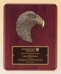 Antique Eagle Rosewood Piano Finish Plaque Wood Cast Awards